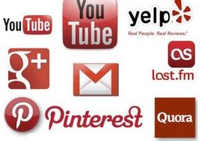 redes sociales rojas
